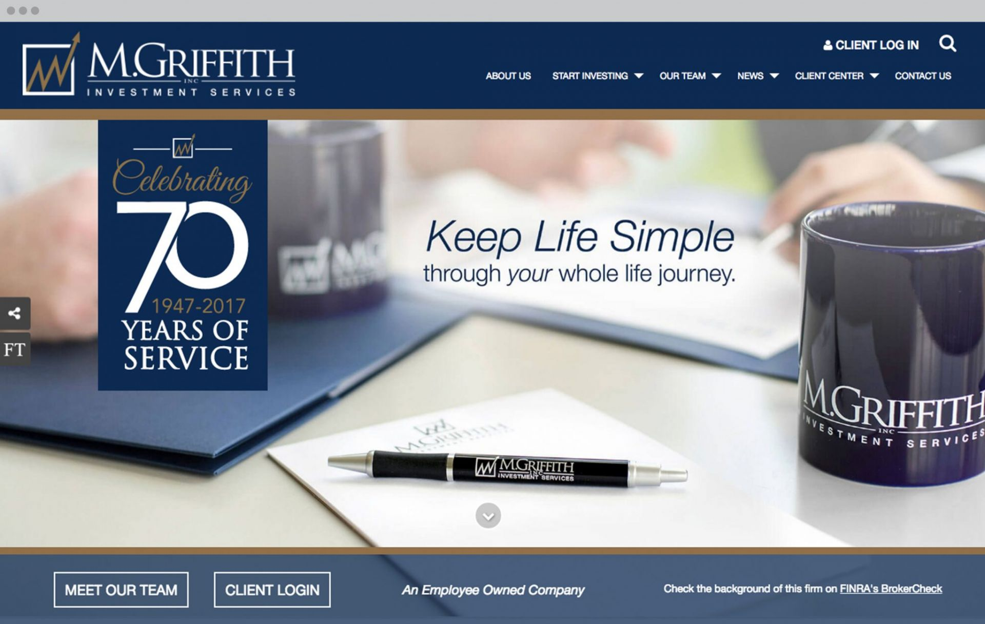 M. Griffith Homepage Design