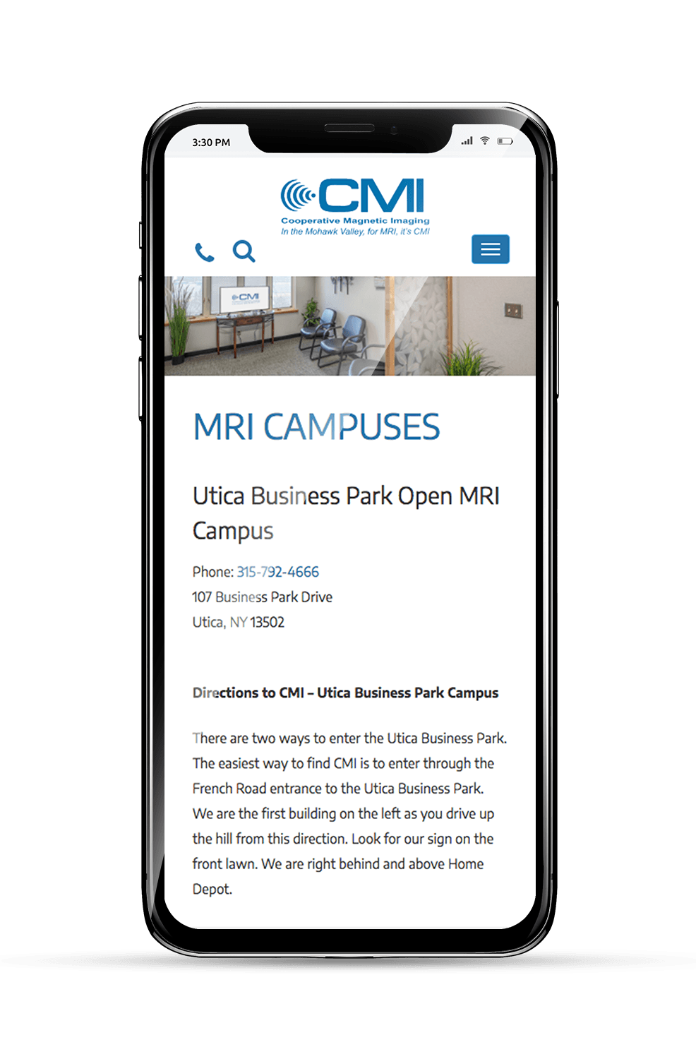 CMI Mobile Subpage
