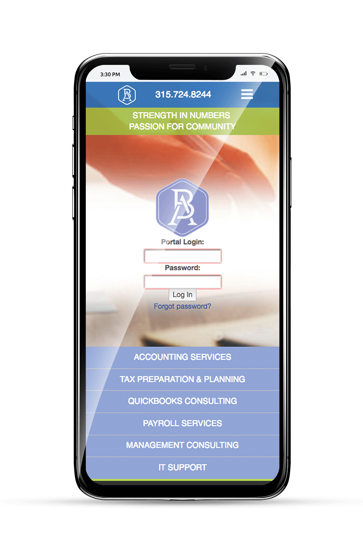 B&A Mobile Homepage