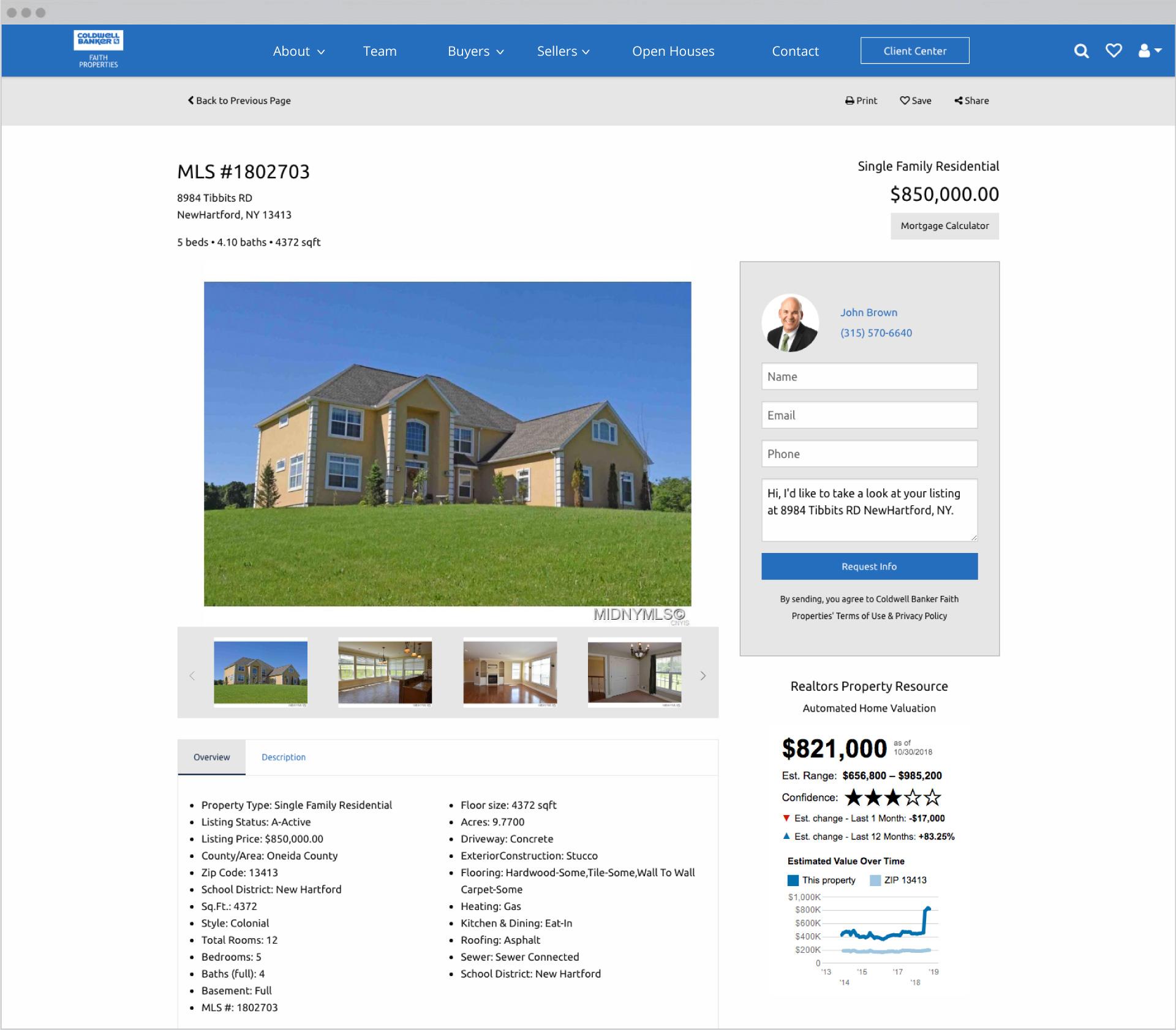 Faith Properties Subpage Design