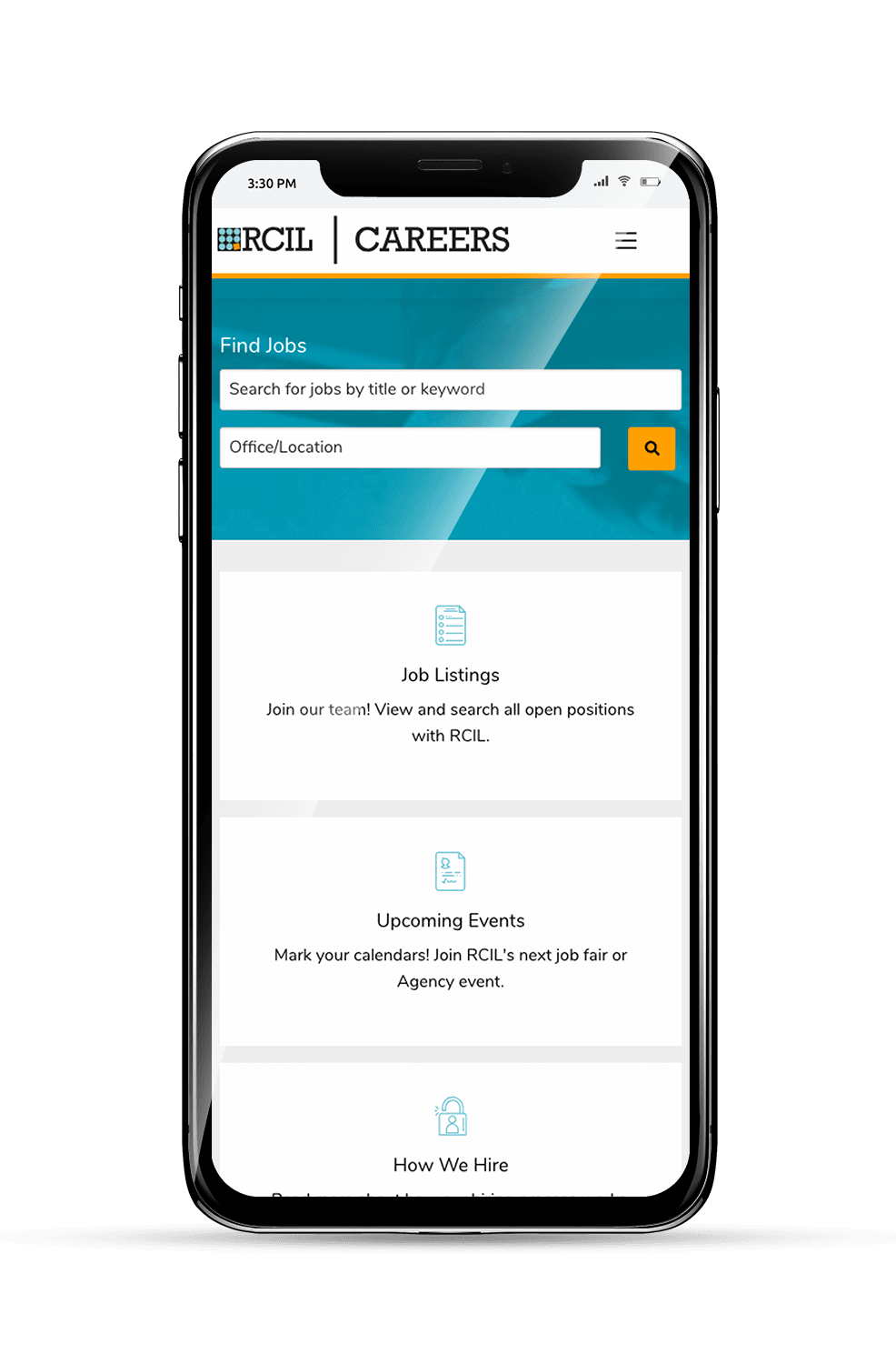 RCIL Mobile Homepage