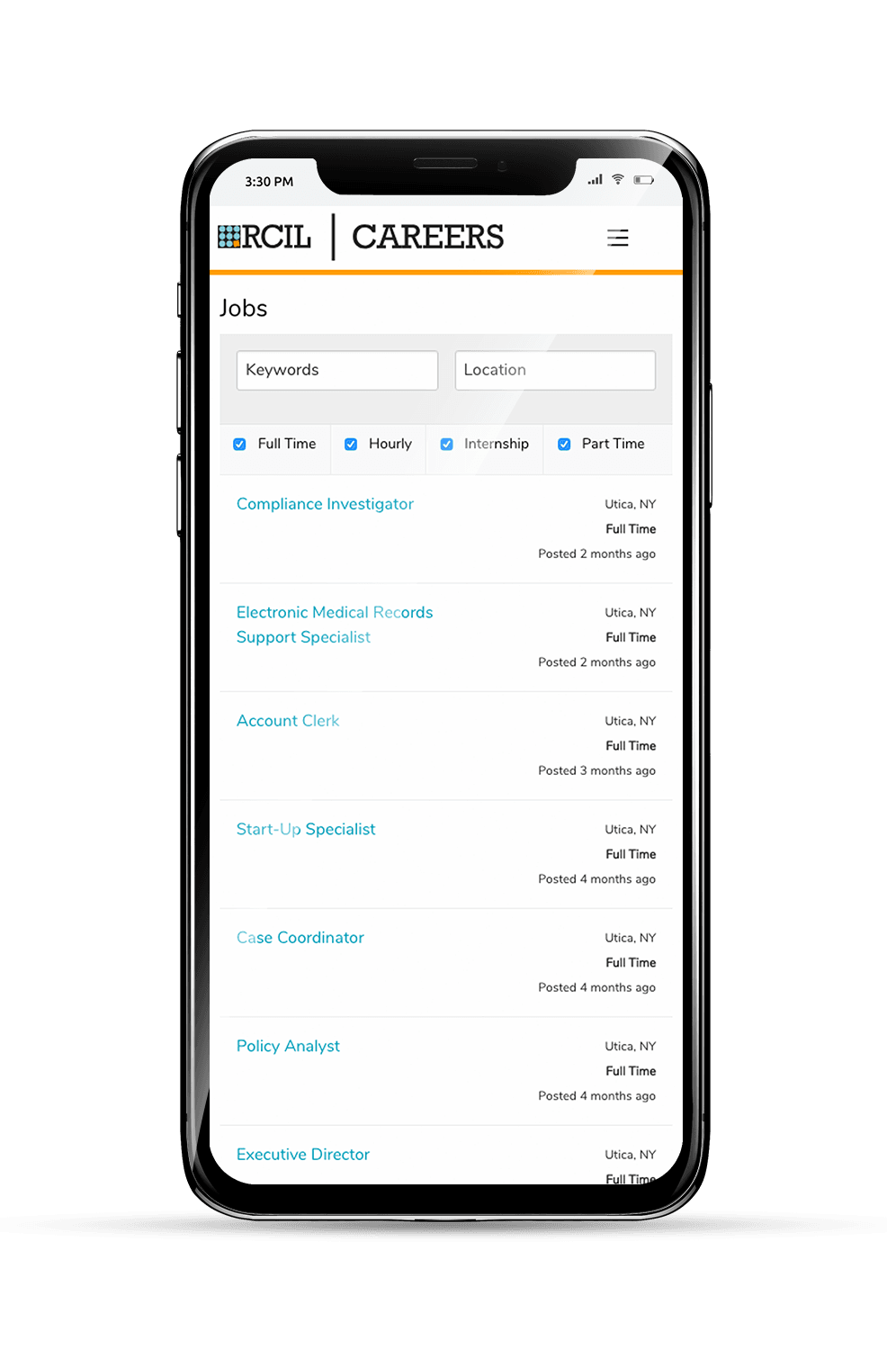 RCIL Mobile Subpage