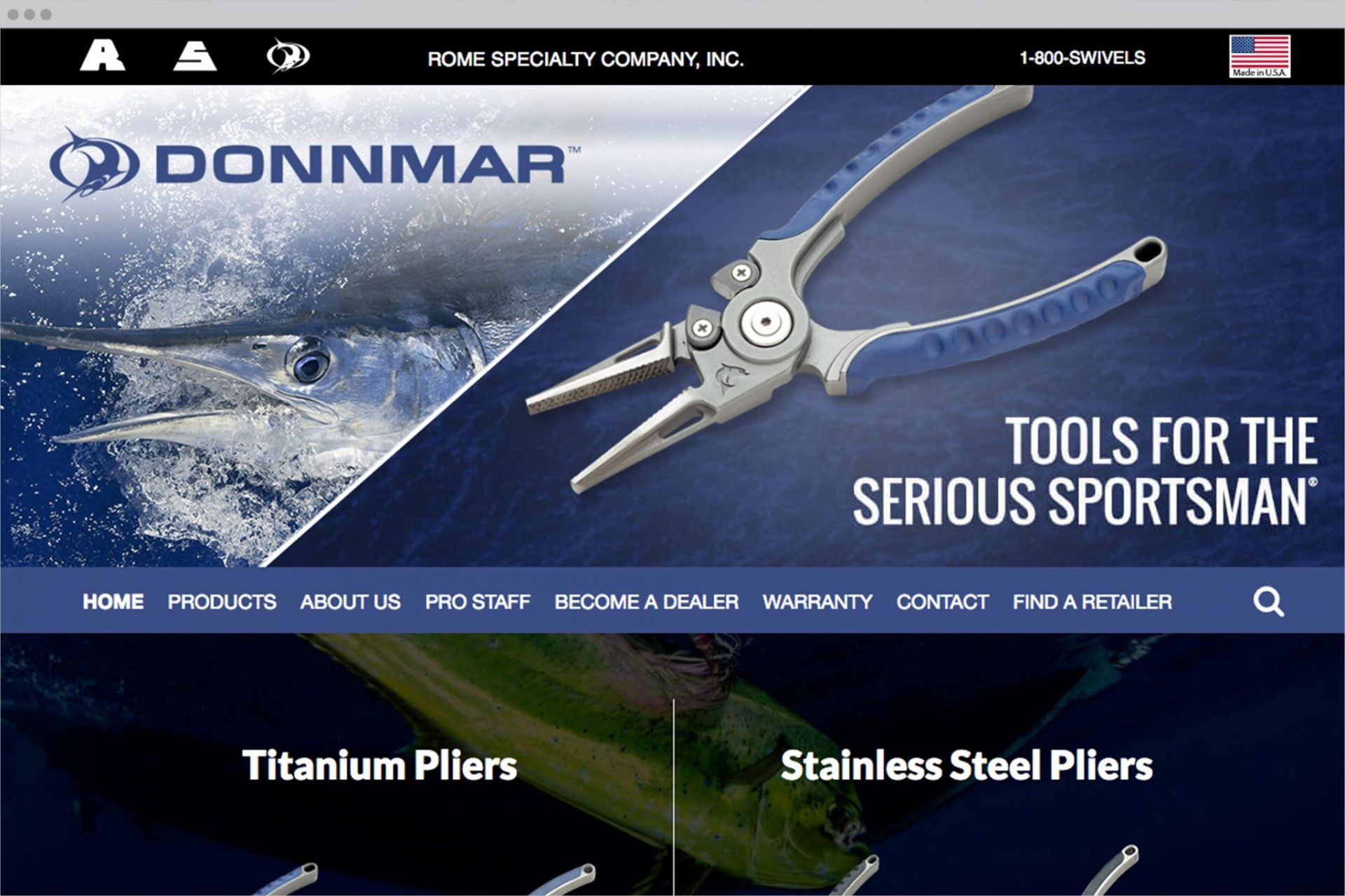 Donnmar Homepage Mockup
