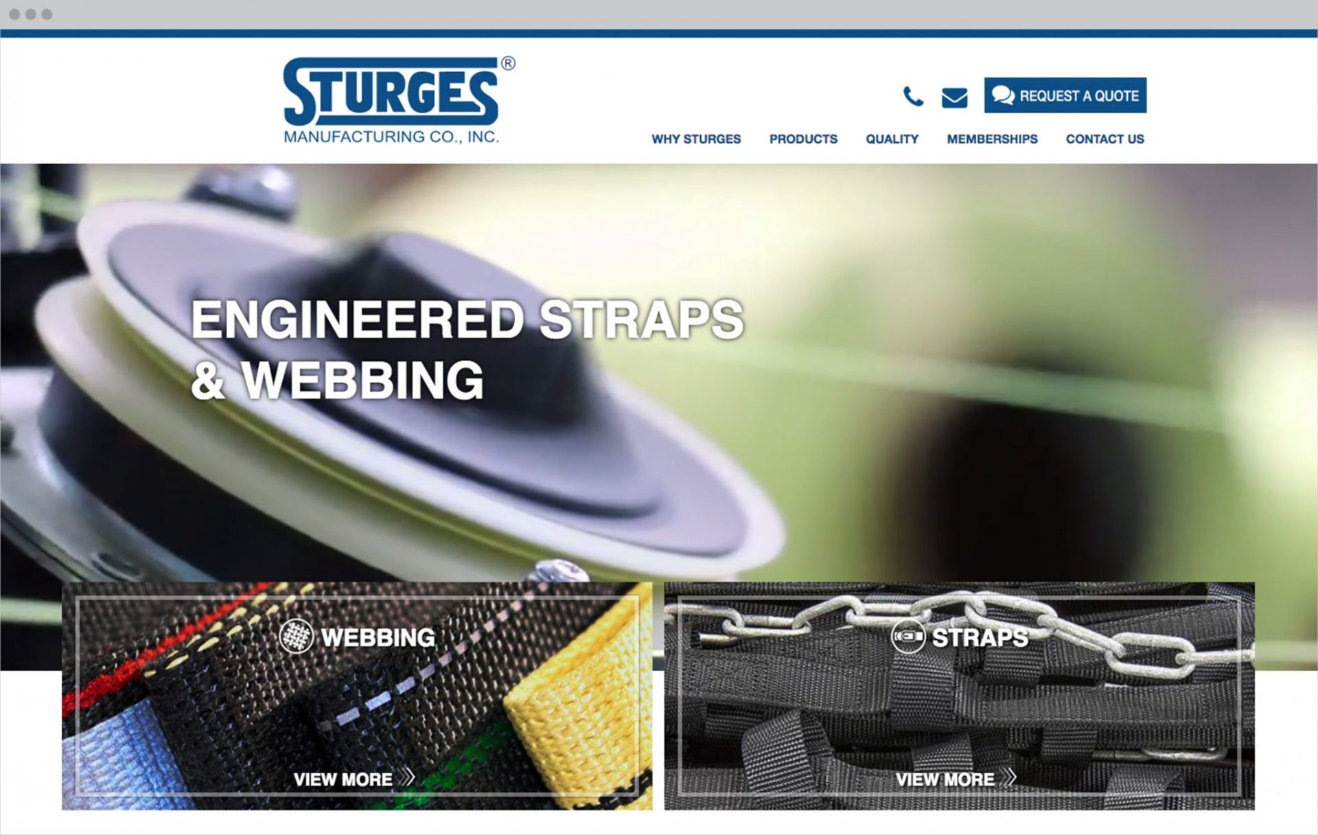 Sturges Website Mockup