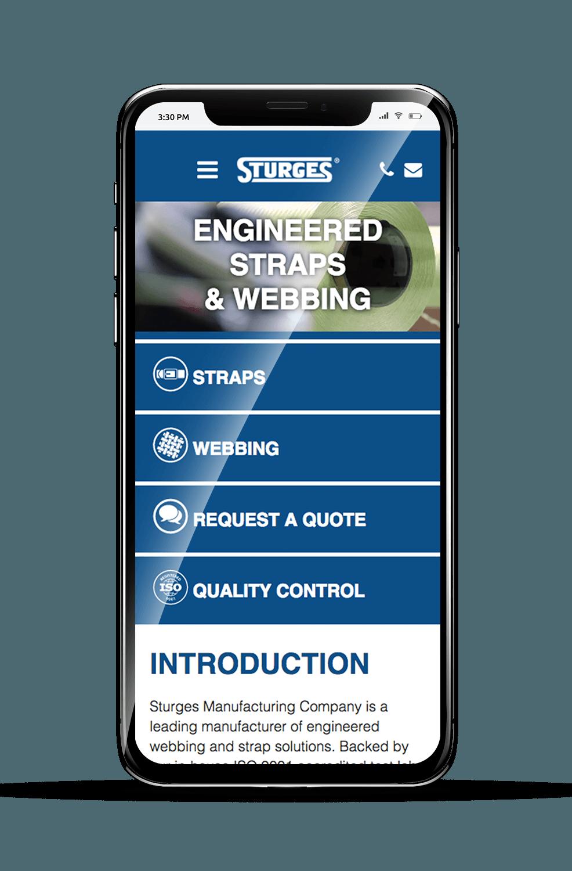 Sturges Mobile Homepage