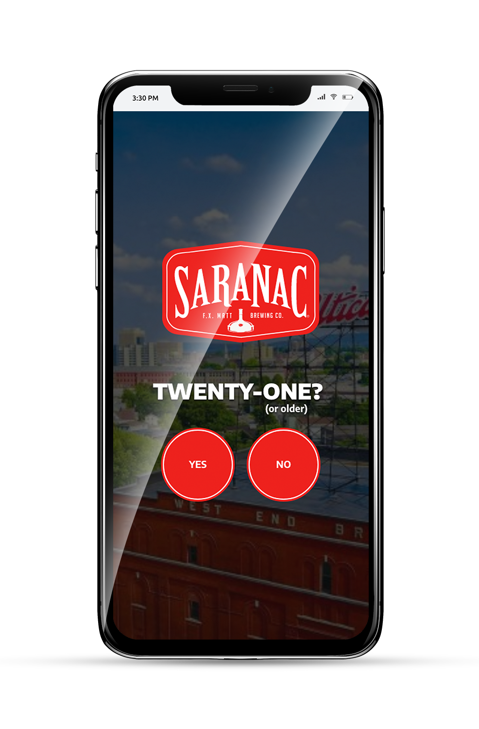 Saranac Brewery Mobile Age Gate